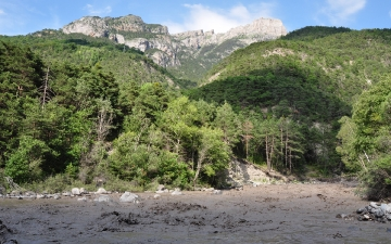 La rivière après la pluie